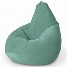 Кресло груша XL из велюра бирюзового цвета