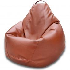 Кресло груша XXL Tesla коричневого цвета