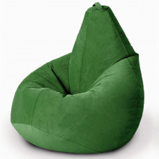 Кресло груша XL из велюра зеленого цвета
