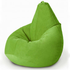 Кресло груша XL из велюра светло зеленого цвета