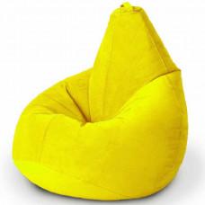 Кресло груша XL из велюра желтого цвета