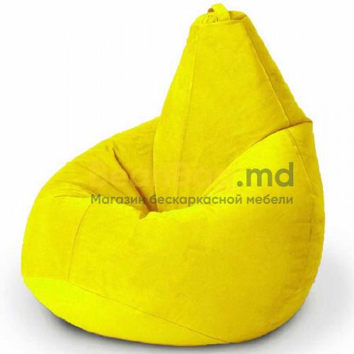 Кресло BeanBag модель Груша, материал велюр, цвет желтый
