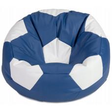 Кресло мяч синий с белым