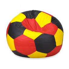 Бескаркасное кресло мяч - Желтый, красный, черный