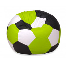 Кресло мяч - Зеленый, черный, белый