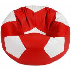 Кресло мешок мяч красный с белым