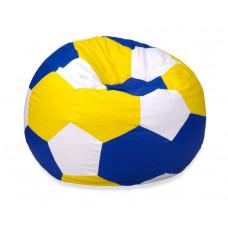 Кресло мяч - Желтый, синий, белый