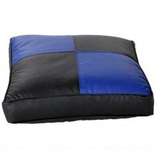 Напольная подушка черная с синим