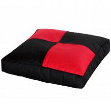 Напольная подушка черная с красным