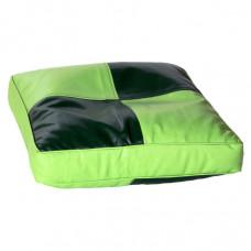 Напольная подушка зеленая с черным