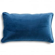 Подушка с размером 30x50см из велюра синего цвета