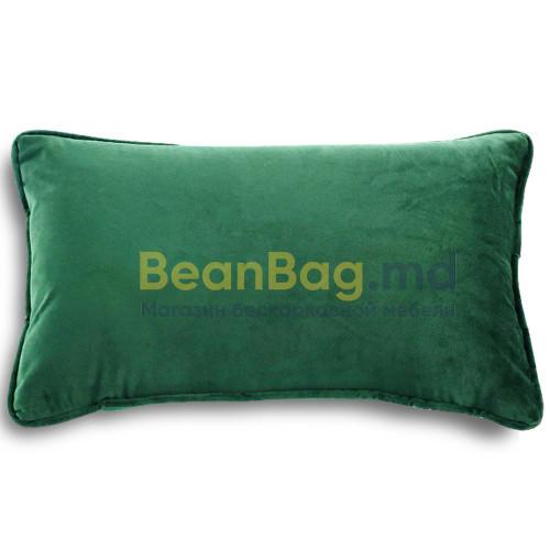 Подушка с размером 30x50см из велюра зеленого цвета