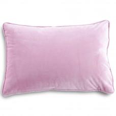 Подушка с размером 30x50см из велюра розового цвета