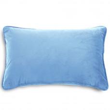 Подушка с размером 30x50см из велюра голубого цвета