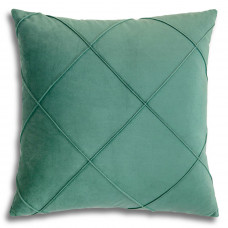 Декоративная подушка из велюра бирюзового цвета