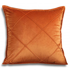 Декоративная подушка из велюра оранжевого цвета