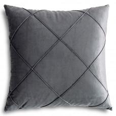 Декоративная подушка из велюра серого цвета