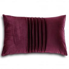 Декоративная подушка из велюра фиолетового цвета