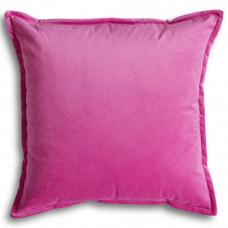 Подушка из велюра 45х45 розового цвета