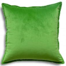 Подушка из велюра 45х45 салатового цвета